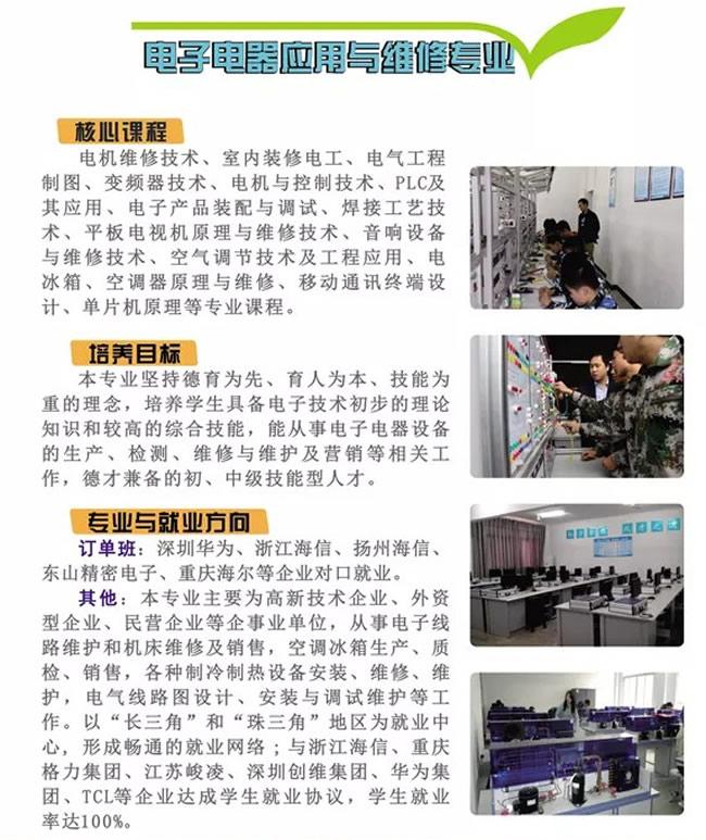 四川省兴文县职业技术学校(兴文职校)电子电器应用专业课程及就业介绍